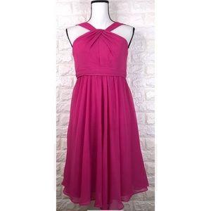 David's Bridal Fuchsia Pink Bridsmaid Dress Sz 8